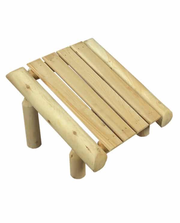 repose pieds en bois rondins de cèdre blanc