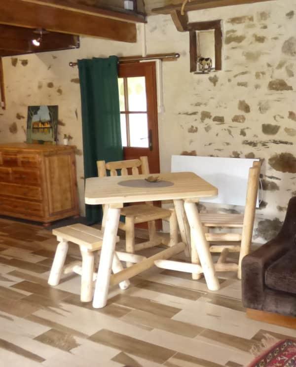 table de cuisine en bois B130U