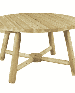 wooden round outdoor dining table