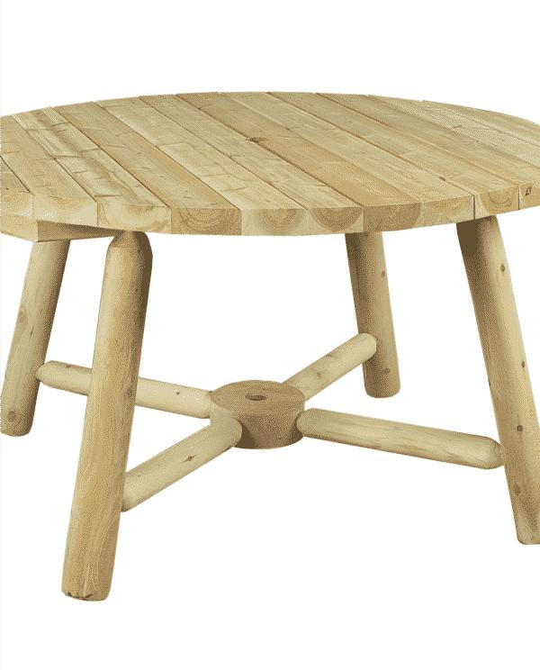 table de jardin parasol en bois de cèdre blanc
