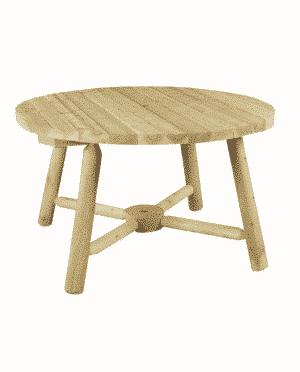 B13A table de jardin ronde bois