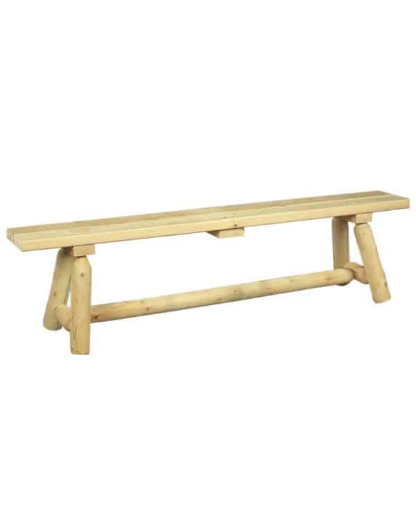 long banc en bois cèdre blanc
