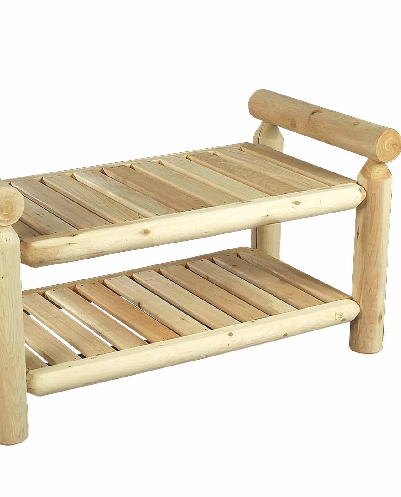 meuble d'appoint en bois cèdre blanc