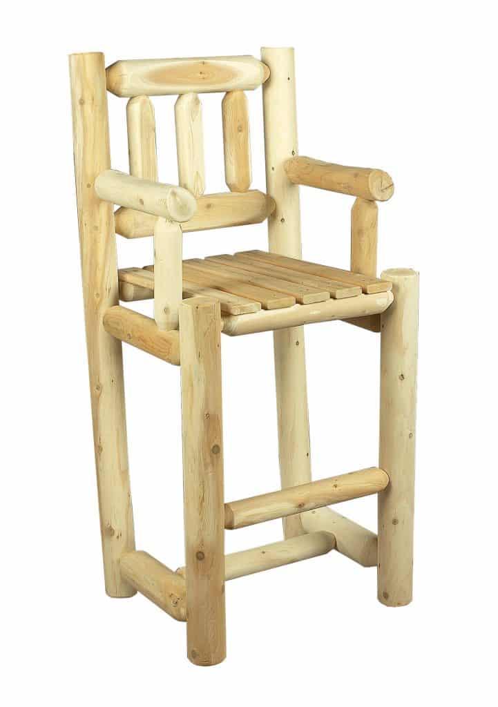 chaise haute mange debout en c dre blanc c dre rondins. Black Bedroom Furniture Sets. Home Design Ideas
