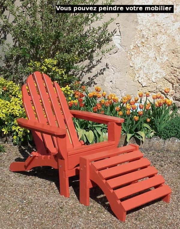 chaise adirondack orange B404