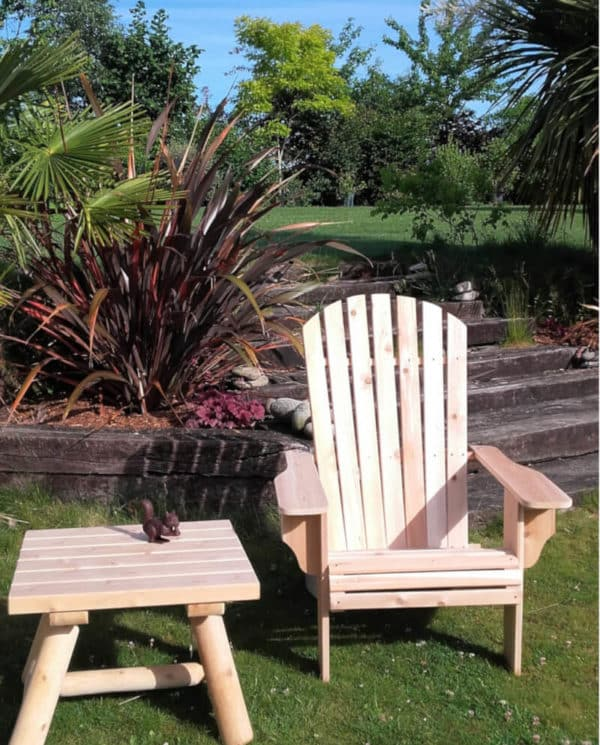 B404A Chaise Adirondack Deluxe et repose pied