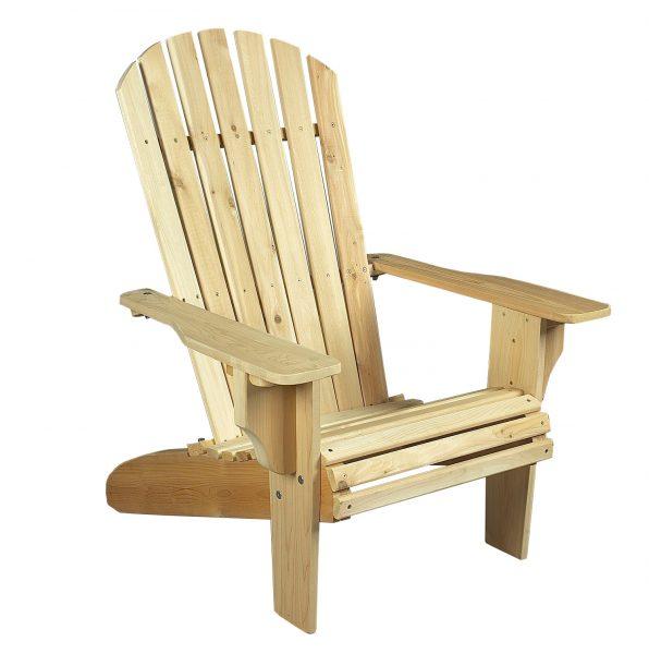 fauteuil adirondack deluxe en bois cèdre blanc