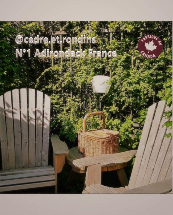 B404A chaise adirondack bois cedre