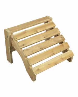 wooden footrest adirondack