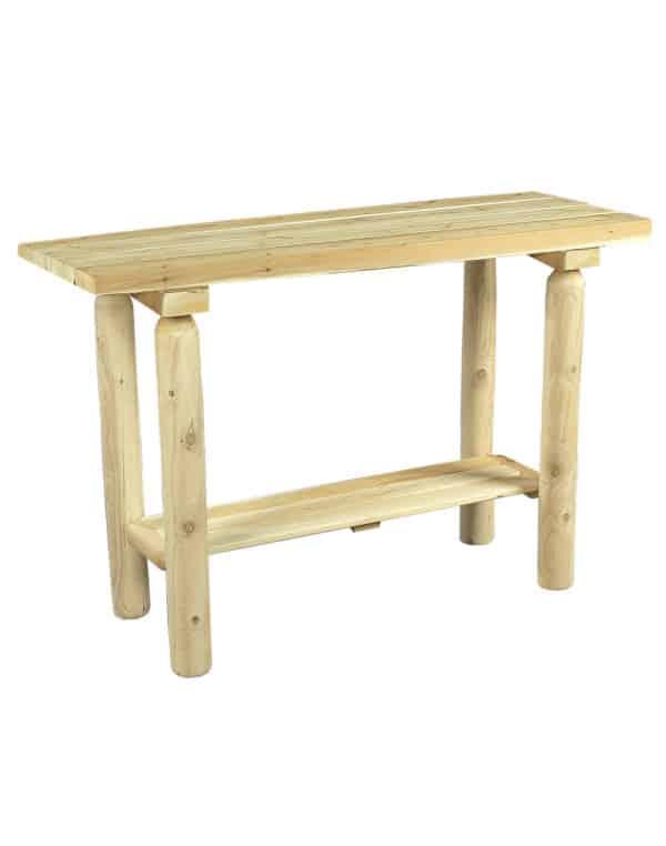 console en bois de cèdre blanc