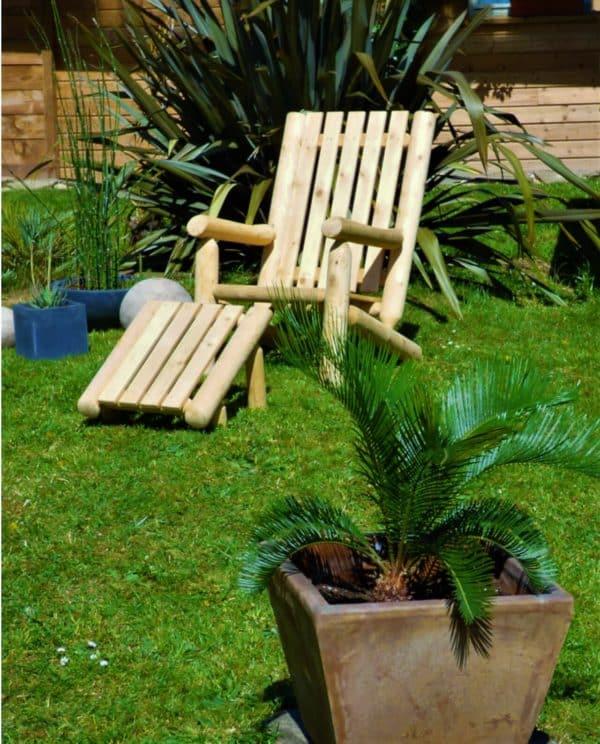 fauteuil rondins cedre B4AKD