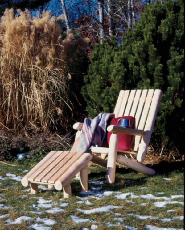 B4AKD fauteuil de jardin rondins