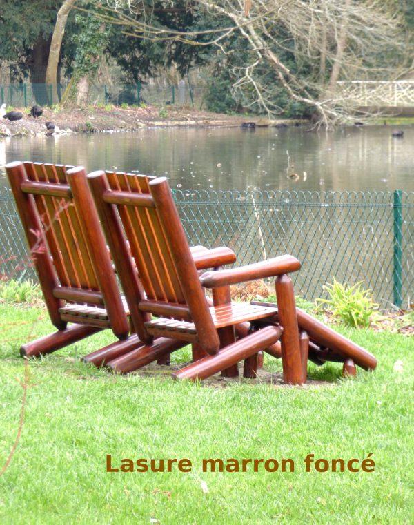 fauteuil de jardin en bois lasure v1