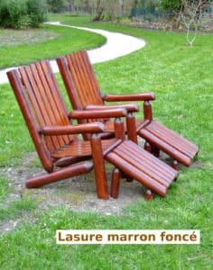 fauteuil lasure rondins bois B4AKD