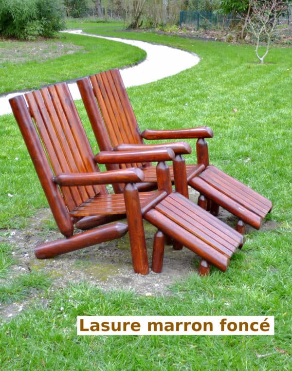 fauteuil rondins bois B4AKD