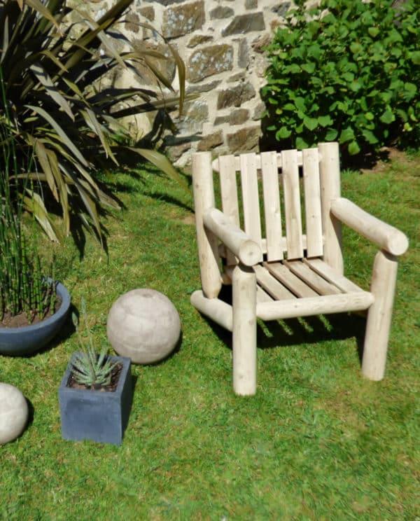 fauteuil de jardin en bois B4KD