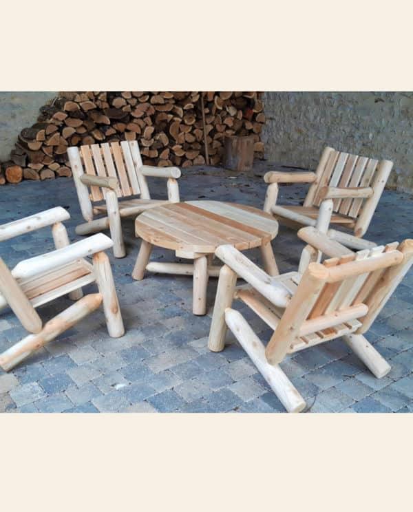 B4KD fauteuil en bois salon