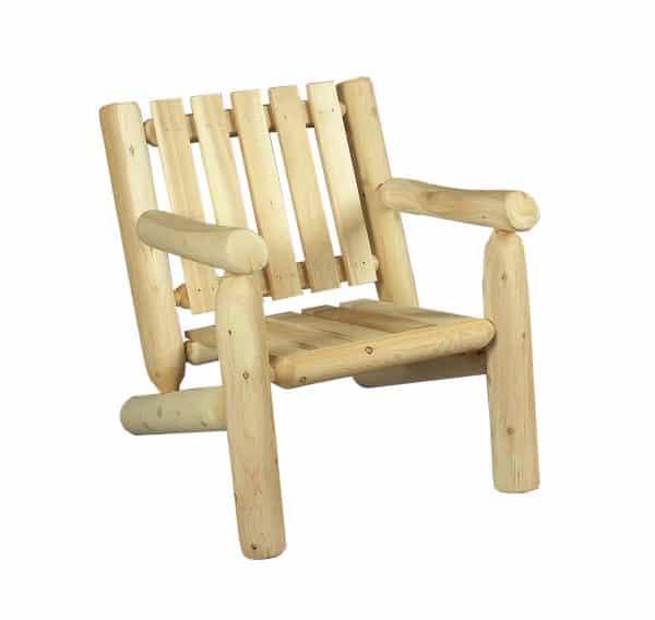 fauteuil en bois de cèdre blanc