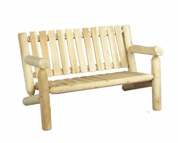 canapé en bois 2 places