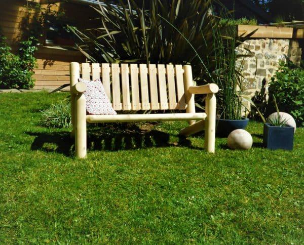 B6KD banc de jardin en cedre