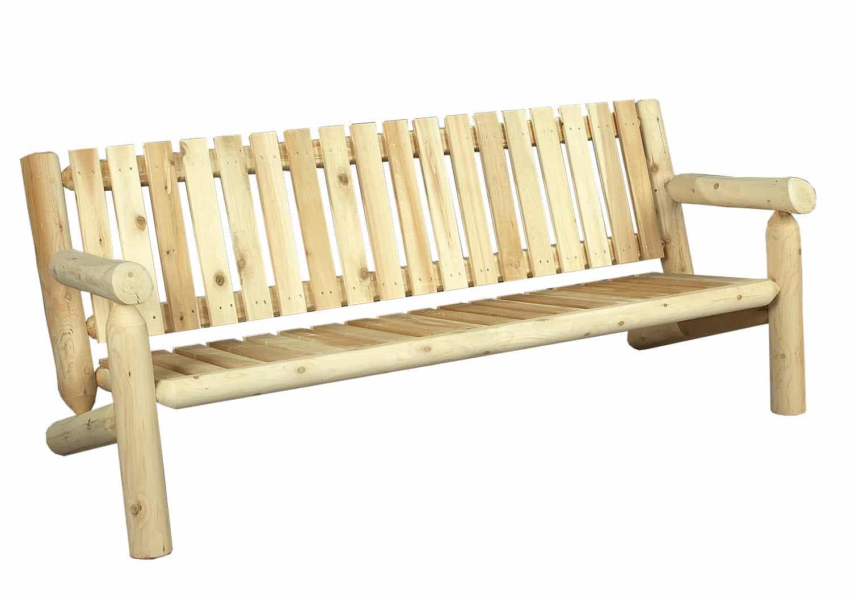 Canap de jardin en bois de c dre blanc c dre rondins for Canape en bois