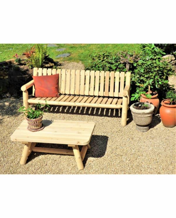 banc de jardin en bois B7KD