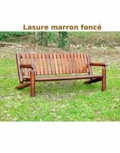canape banc 3 places bois lasure B7KD