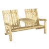 fauteuil 2 places en bois
