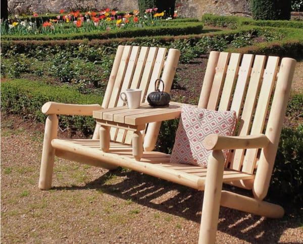 fauteuil double bois B7TTKD