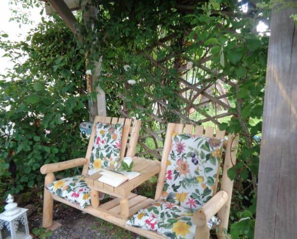 B7TTKD fauteuil de jardin avec coussins