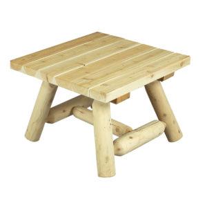 fauteuil de jardin en bois dossier haut c dre et rondins. Black Bedroom Furniture Sets. Home Design Ideas