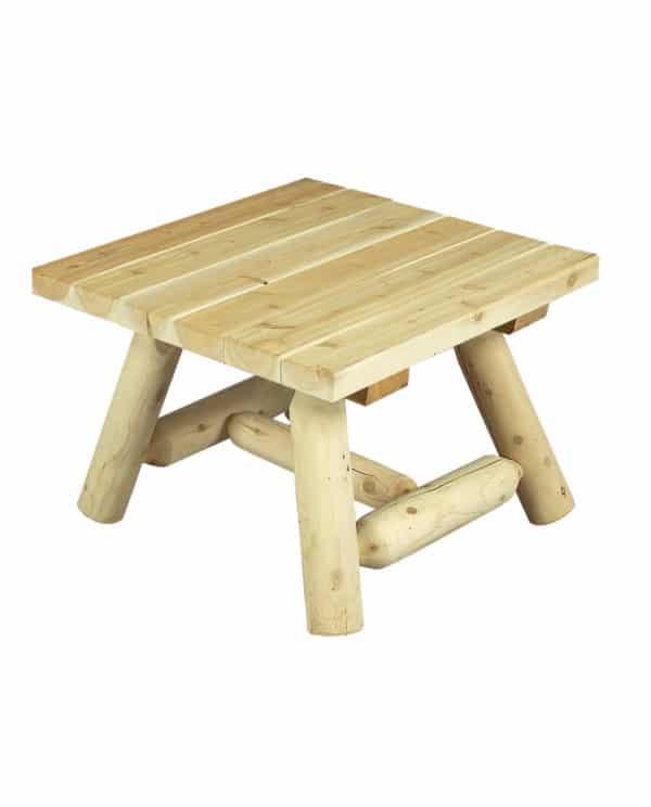 bout de canapé en bois cèdre blanc