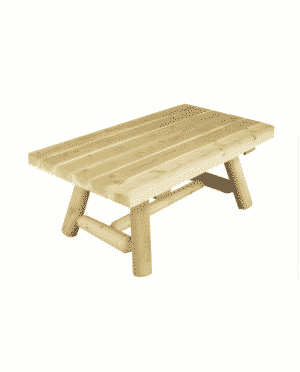B90A table basse rectangulaire bois