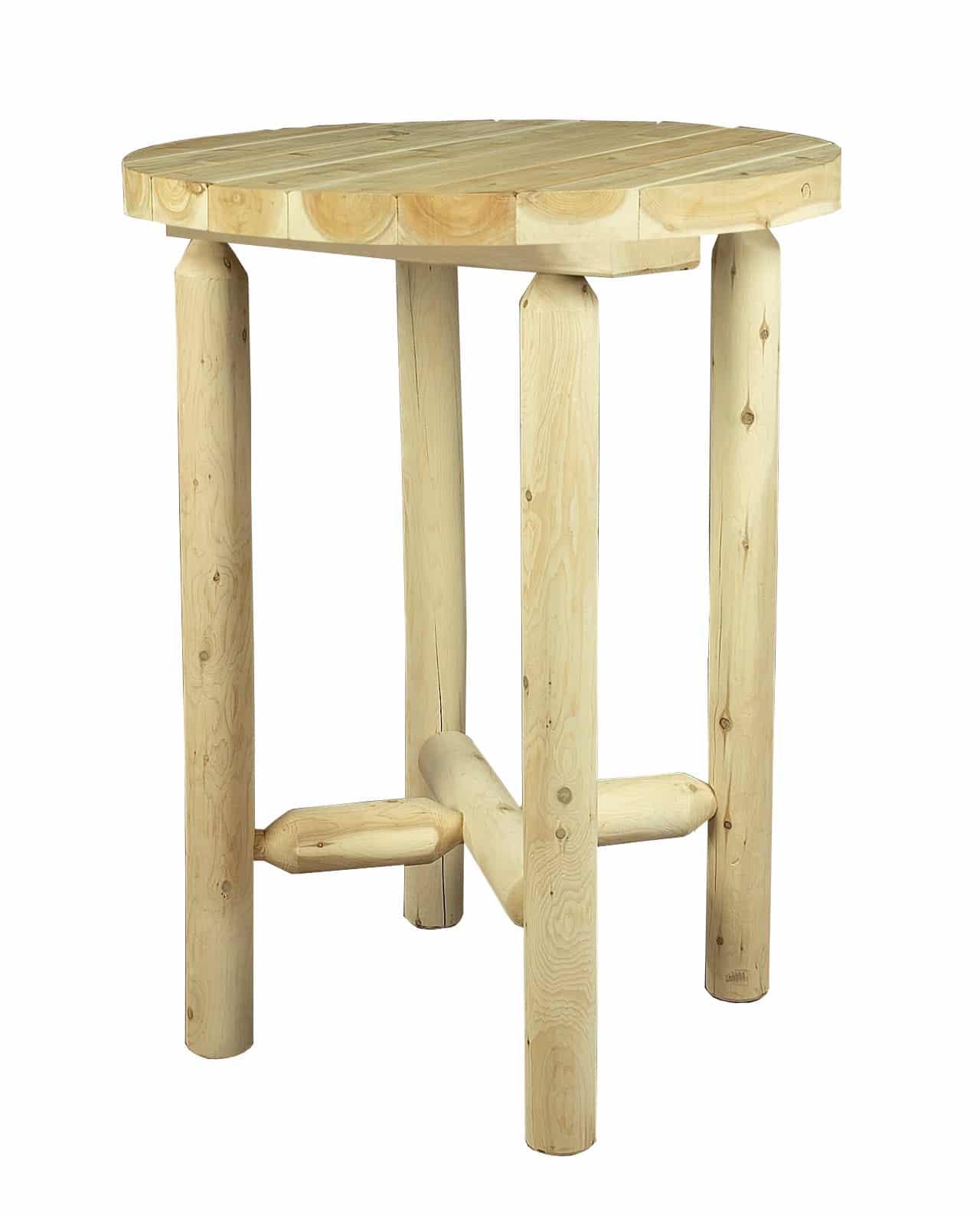 table haute en bois petit modèle