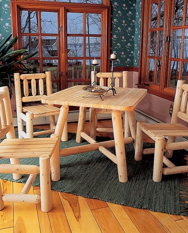 table chaise bois