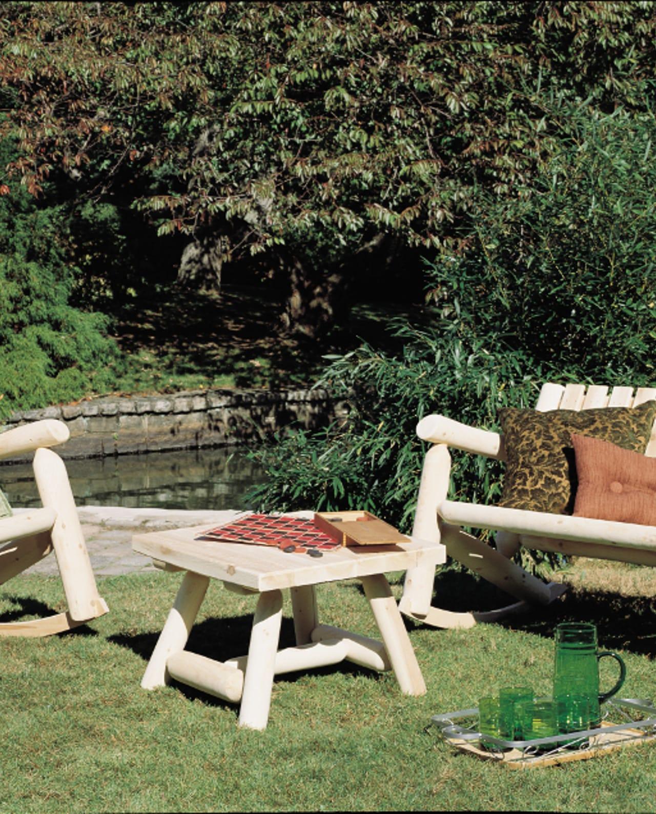 Bout de canapé en bois de cèdre blanc - Cèdre et Rondins