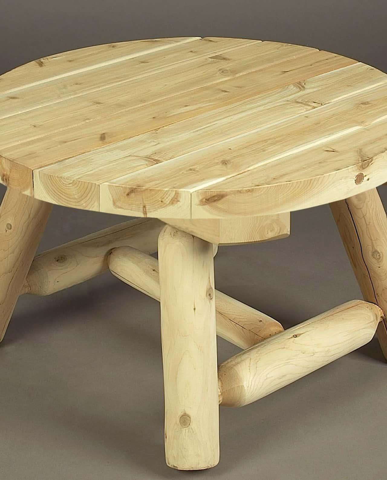 Table basse de jardin en bois de c dre blanc grand mod le for Table basse bois jardin