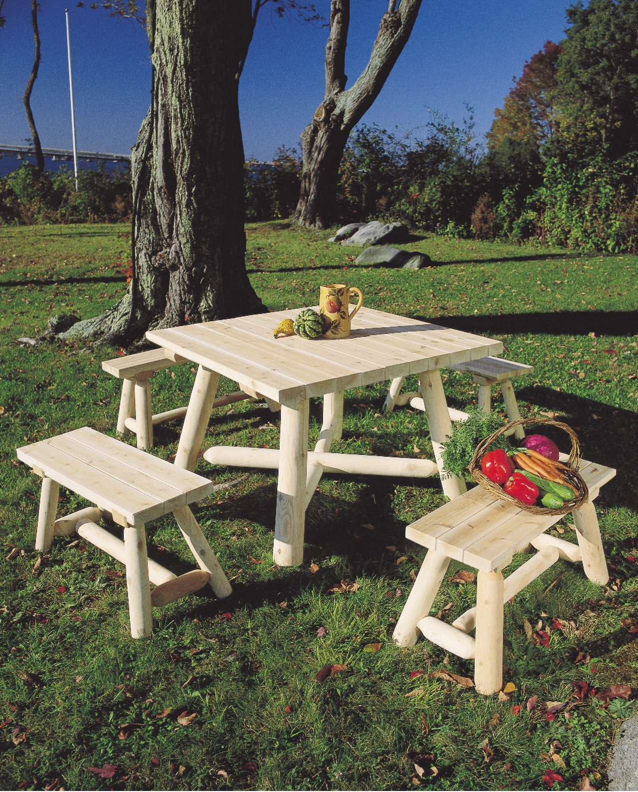 stunning table de jardin en bois et banc photos. Black Bedroom Furniture Sets. Home Design Ideas