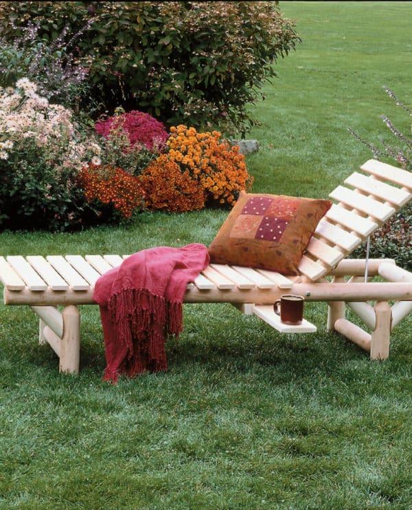 chaise longue bois B17
