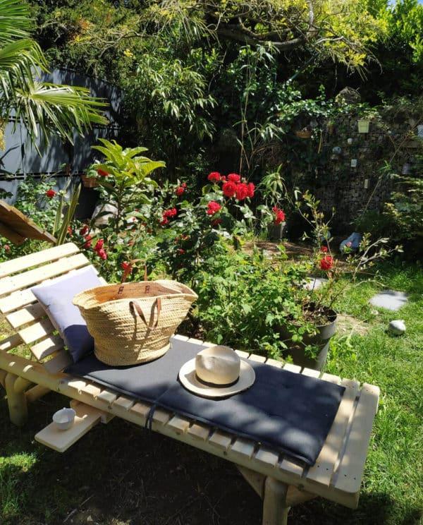 bain de soleil en bois B17