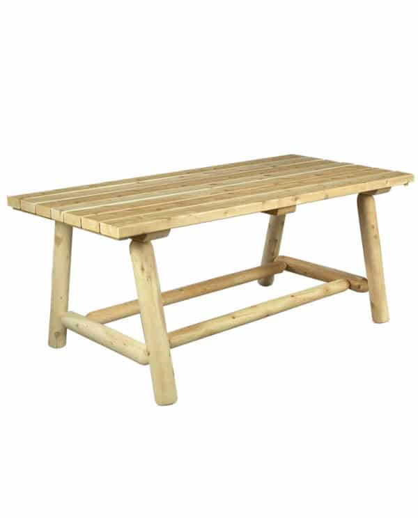 table repas rectangulaire en bois