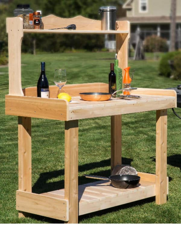 table barbecue en bois B421