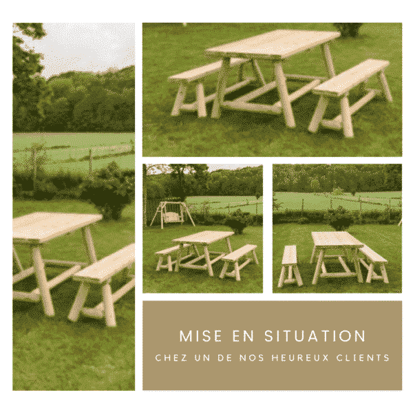 table jardin banc bois R1S