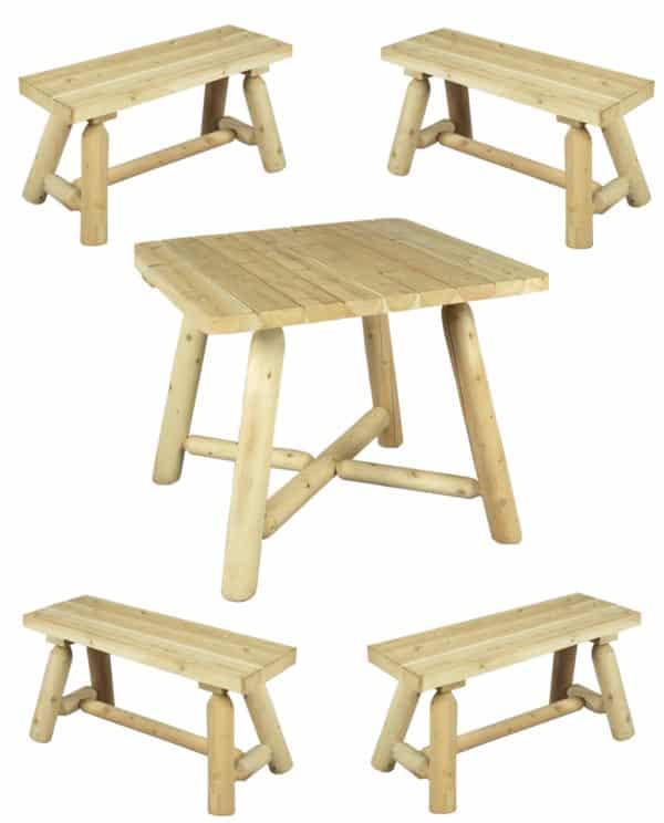 table avec banc en bois - R2S