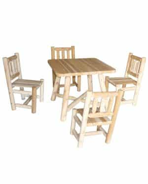 Wooden Square Dining Table and Chairs