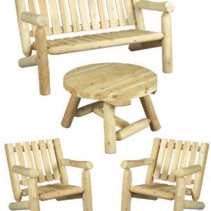 mange debout en bois grand mod le c dre et rondins. Black Bedroom Furniture Sets. Home Design Ideas