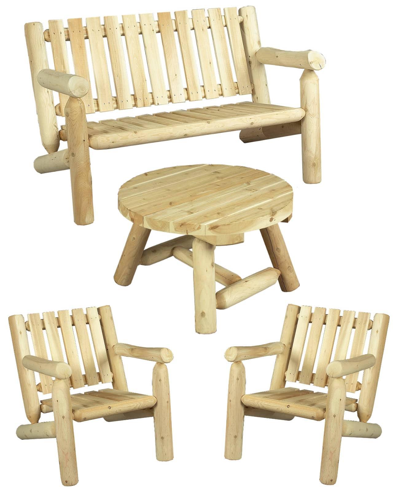 fauteuil et canapé - meuble de salon en bois - S1