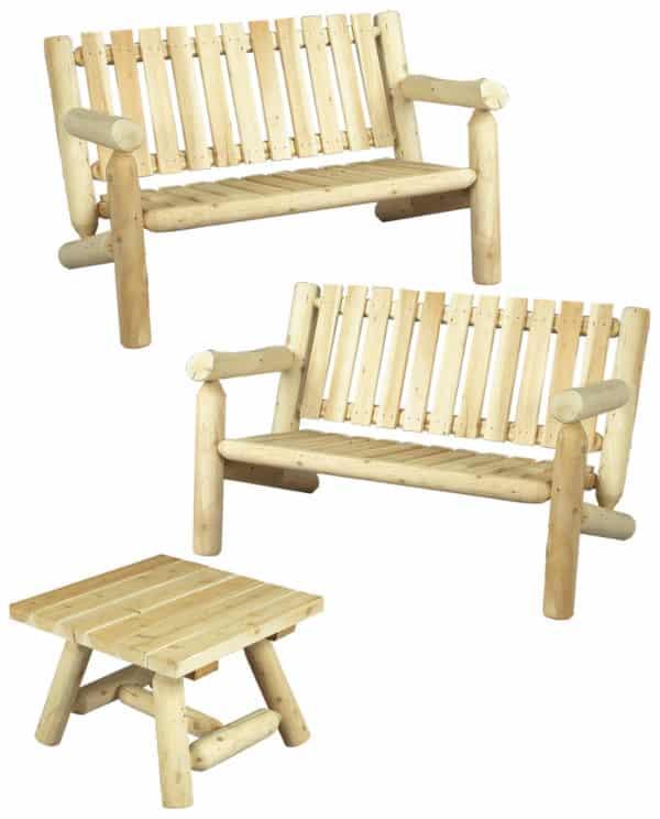 ensemble canapé et table basse carrée - S2