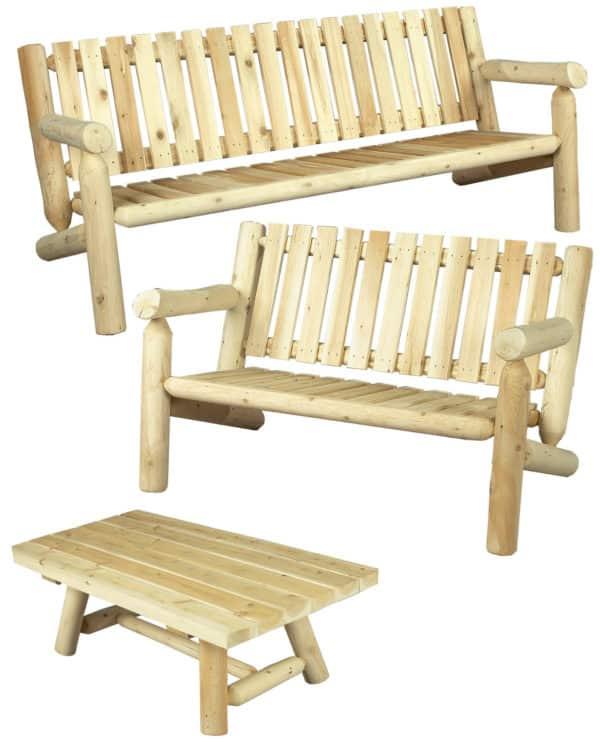 salon en bois - canapé et table basse - S4