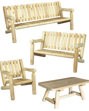 Wooden Outdoor Lounge Set
